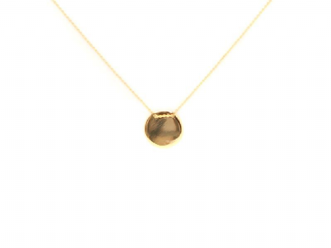 HELEN GOLD DISC NECKLACE